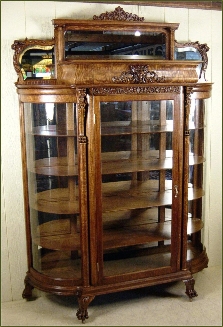 Glass Cabinet Awesome Antique Oak China Cabinet For Sale Curved Glass Prices Cabinets And Buffets Replacemen Glass China Cabinet Curved Glass Oak China Cabinet