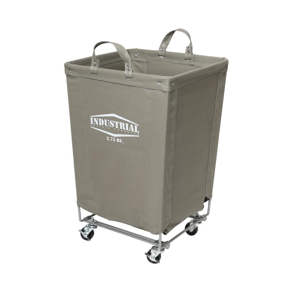 Seville Classics Gray Commercial Canvas Laundry Hamper