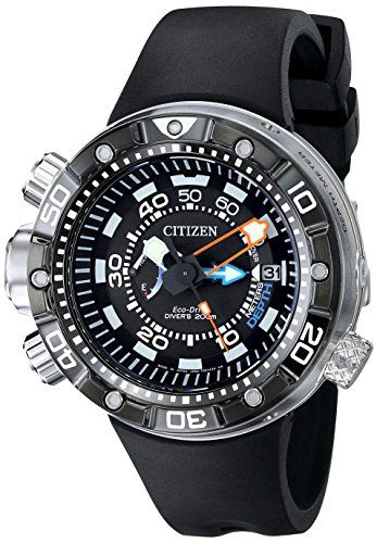 Citizen Eco-Drive Promaster Aqualand Diver Black Rubber Watch  BN2029-01E  (Men Watch) 9ada291bdf3