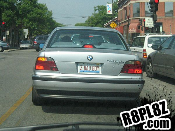 Z Bad Boy Bad Boys Boys License Plate