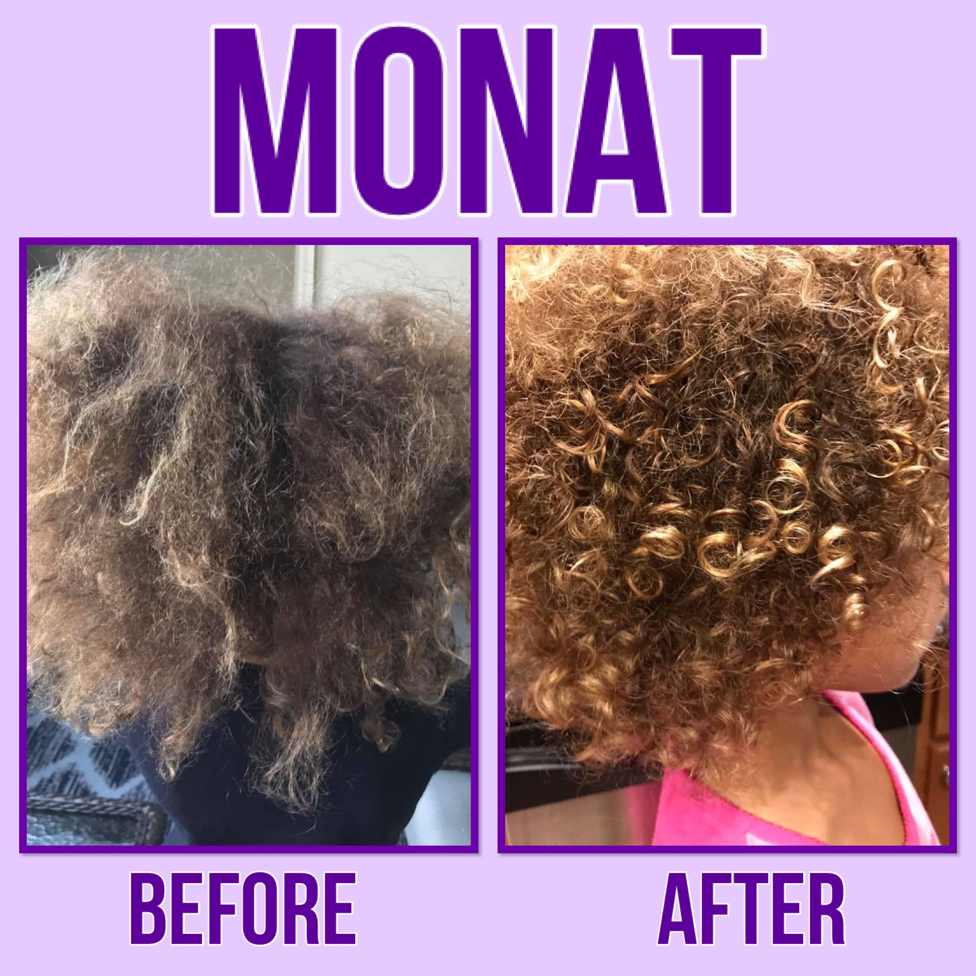 Monat Testimonial Holly S Experience My Daughters Hair Before And After I Usually Can T Get A Brush Through It A Monat Monat Hair Monat Before And After