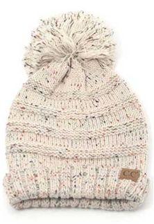 CC Beanie Cable Knit Beanie in Confetti Oatmeal HAT-200-OATMEAL ... ca7a66af8dc