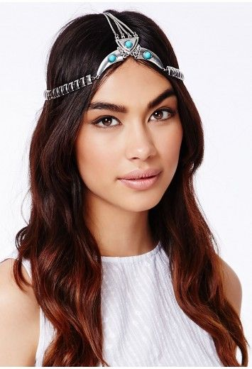 71e887aee0e72 Ozirisa Chain Headband With Tribal Details - Accessories - Beauty -  Missguided