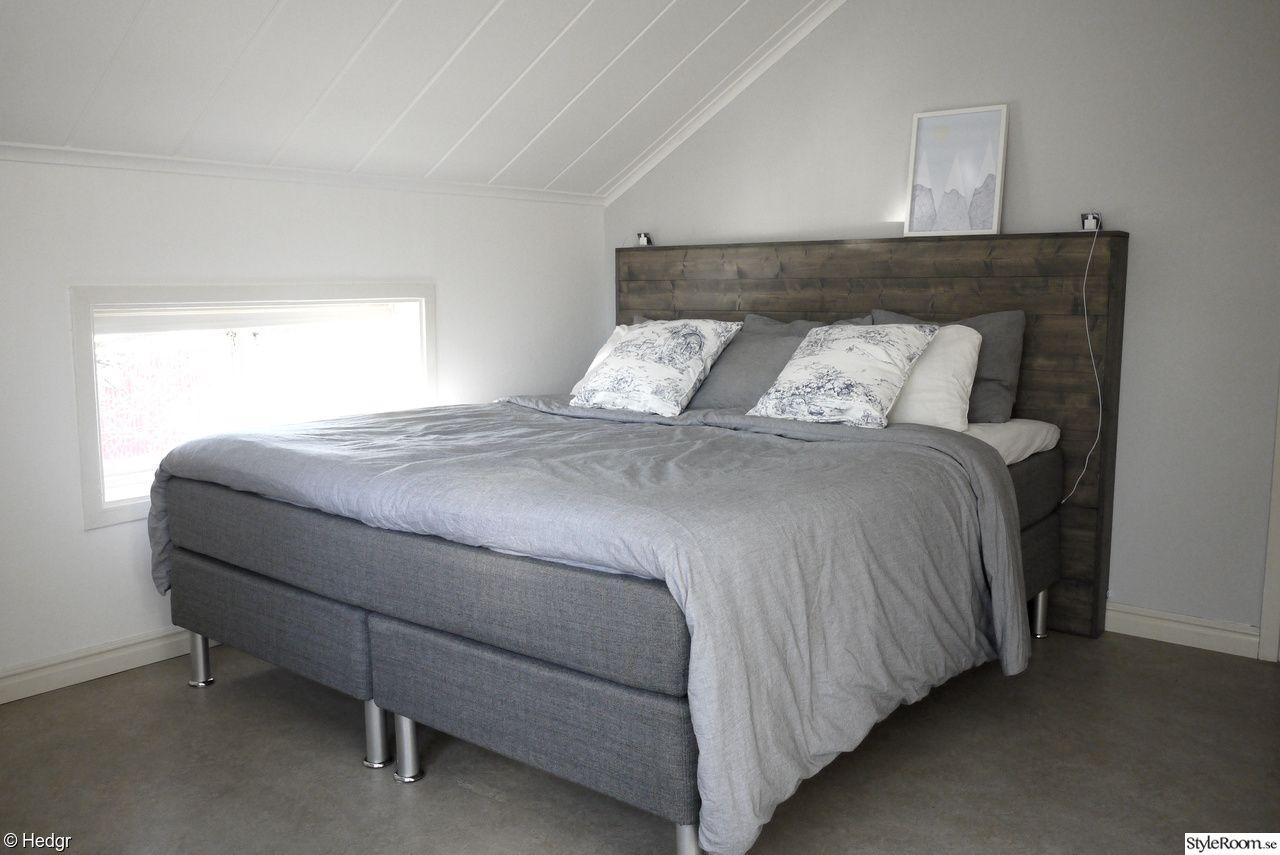 sänggavel,diy,diy inredning,drivvedsbets,trä,kontinentalsäng,sovrum,do it yourself Soverom