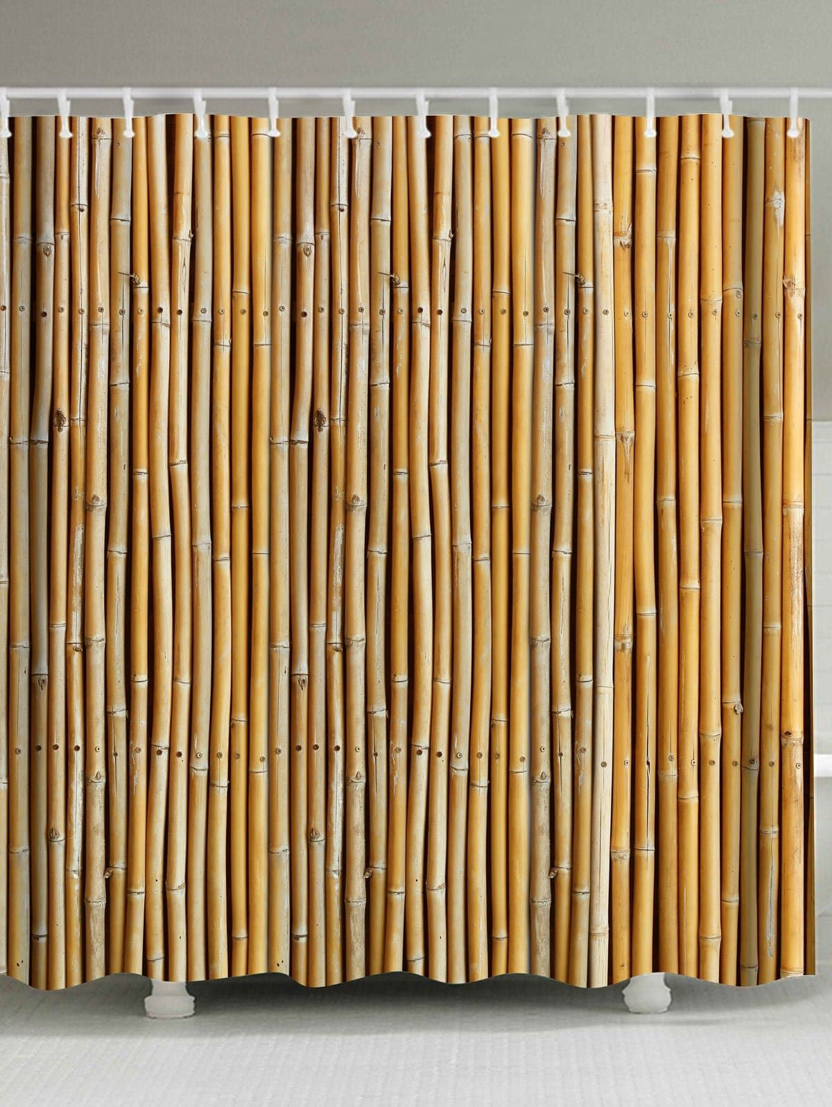 Bamboo Printed Extra Long Shower Curtain Long Shower Curtains