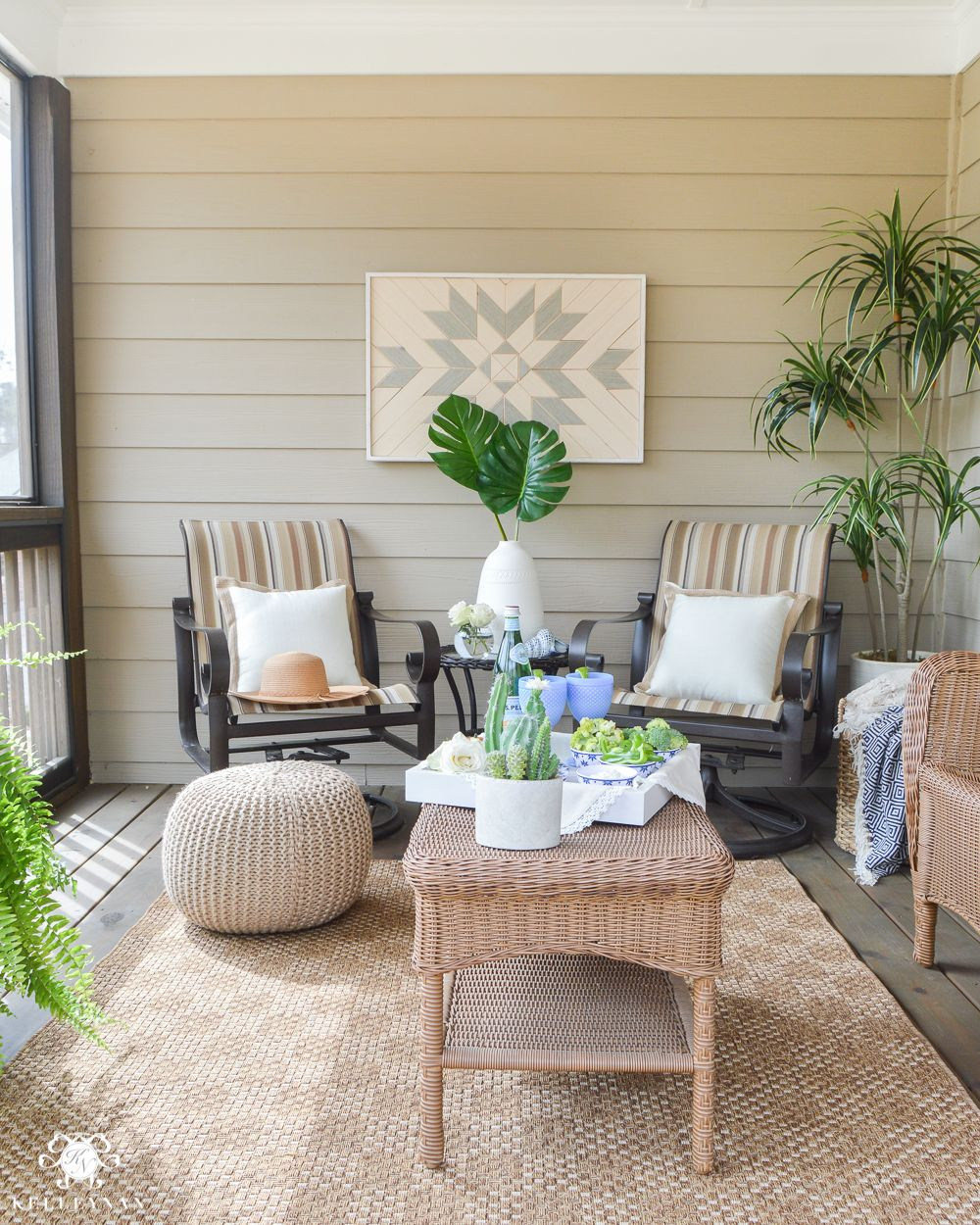 Shades of Summer Home Tour Back Screened