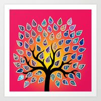 Art Print featuring Tree by folk route