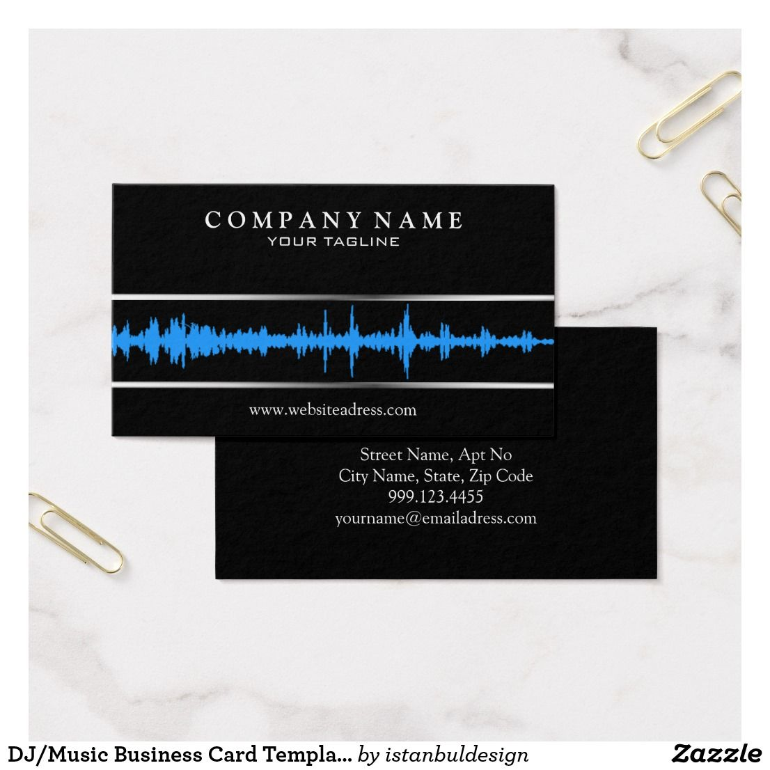 DJMusic Business Card Template Business Pinterest Card - Music business card template