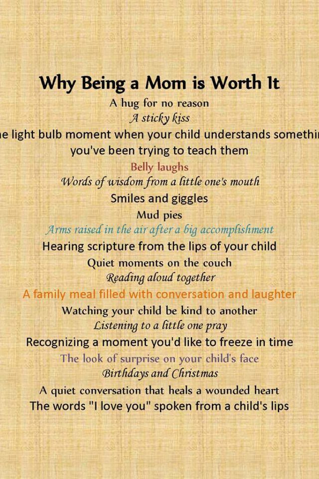 Love being mom