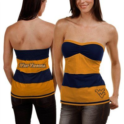 1435fc5239 West Virginia Mountaineers Striped Tube Top