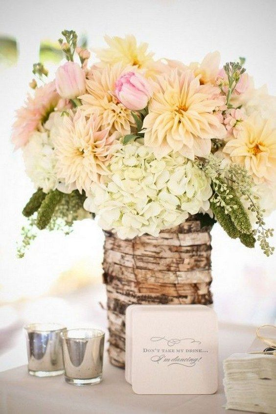 20 rustic wedding centerpieces with bark container rh pinterest com
