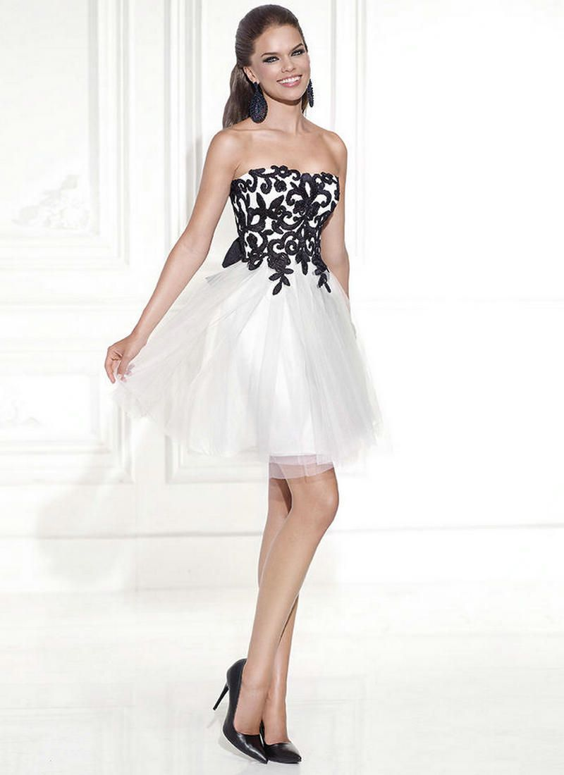 Cocktail Dresses Black And White Store - Plus Size Masquerade ...
