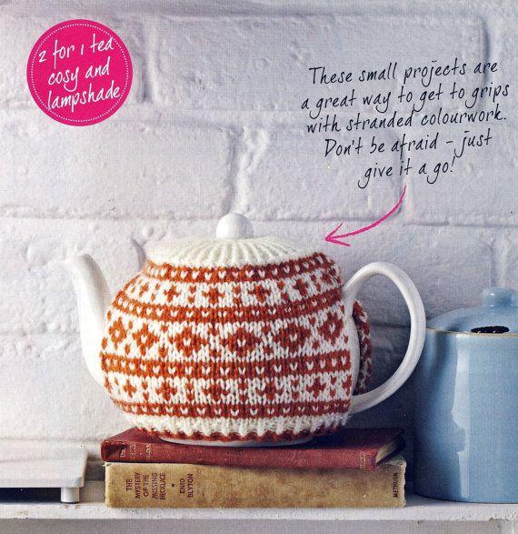 FAIR ISLE Tea Cosy and Lampshade Knitting Pattern. DK. Simply ...