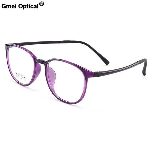 fc430400fd Gmei Optical Urltra-Light TR90 Round Full Rim Optical Eyeglasses Frame Women  Plastic Myopia Presbyopia Spectacles 6 Colors M2004