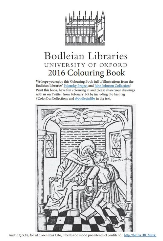 The University Of Oxfords Famous Bodleian Library Has Just Released A Free Coloring Book Featuring Images