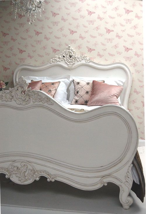 classical white french carved bed for the home pinterest rh pinterest com