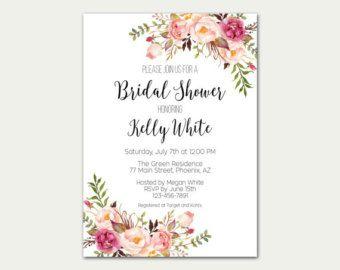 Bridal shower invitation bridal shower invite bridal shower bridal shower invitation bridal shower invite by artbyheartprints filmwisefo Gallery