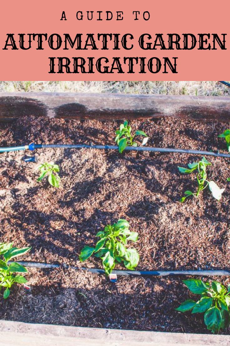 a busy girls guide to automatic garden irrigation gardening rh pinterest com
