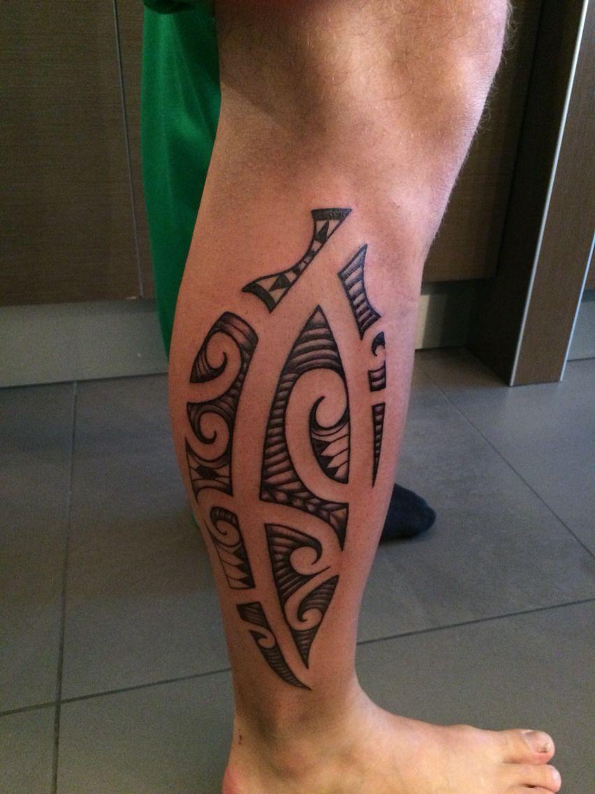 Super Maori tattoo van thijs Maori kuit calf moko tatoeage tattoo @VZ24