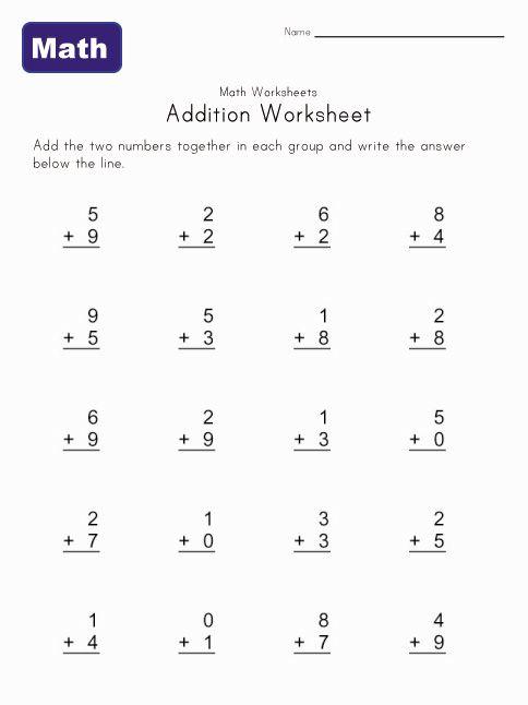Simple Addition Worksheet 6 Math Worksheets For Pre K K