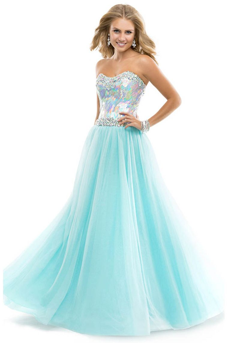 Shop 2014 Ball Gown Prom Dresses With Sequined Bodice Corset Tulle ...