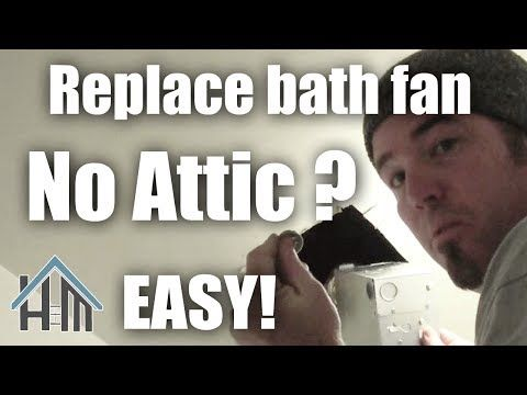 how to install replace bath exhaust fan no attic easy home mender rh pinterest com