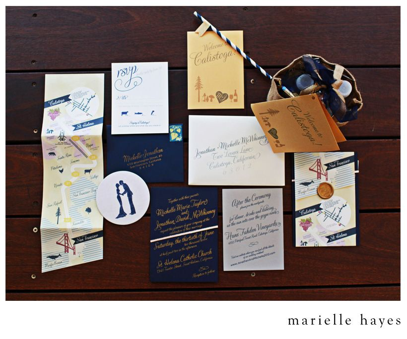 wedding invitations map%0A Michelle  u     Jonathan u    s Shades of Navy  Gold and Grey  Map InvitationWedding