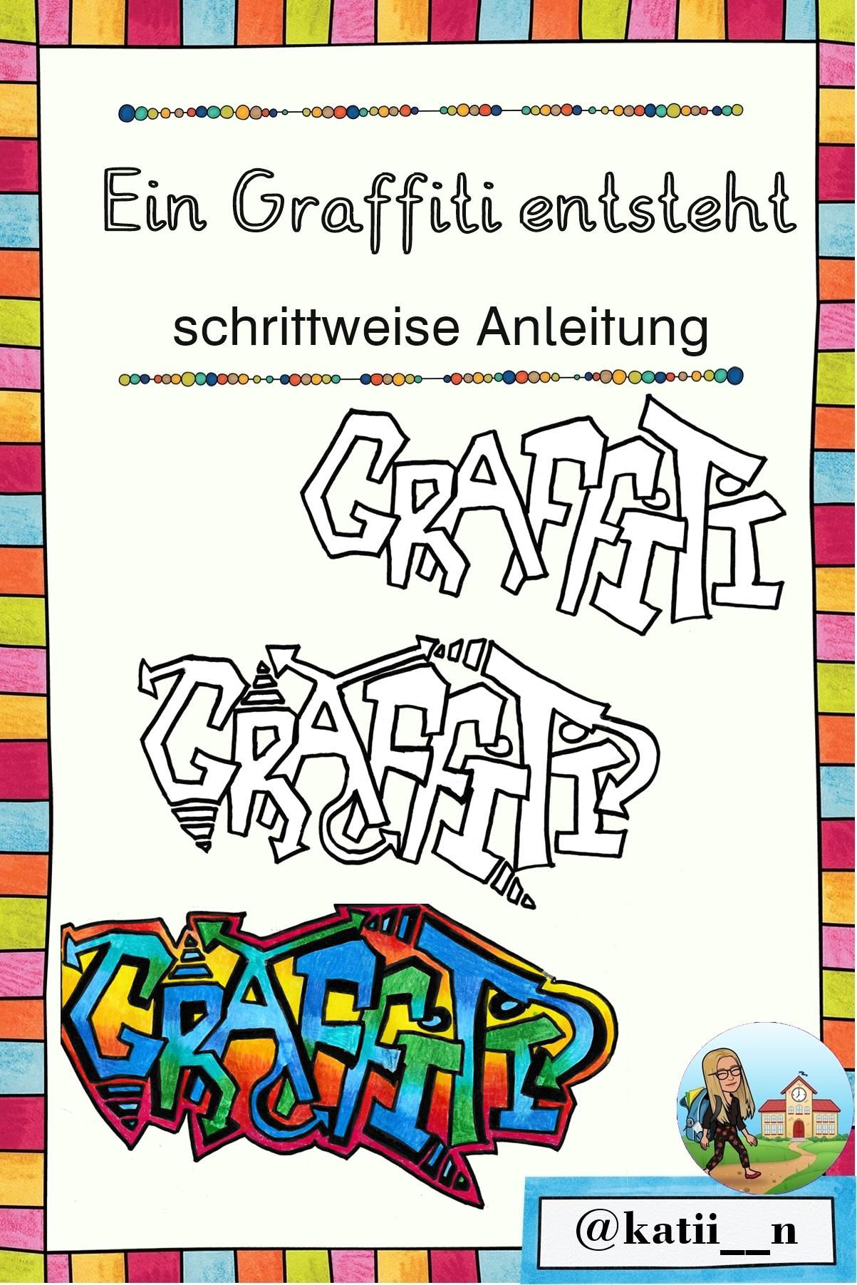 Ein Graffiti entsteht - Anleitung Karten