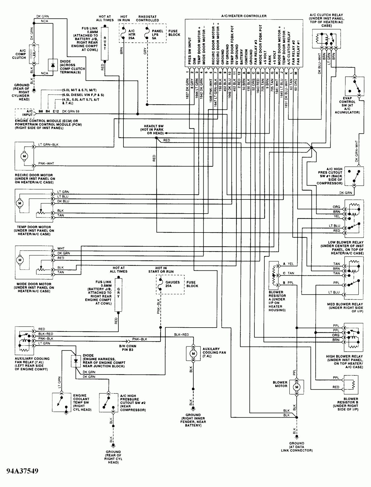 Wiring Diagram For 1990 Chevy Pickup With Deisel Engine And Wrg Chevy Diesel Wiring Diagram Camionero
