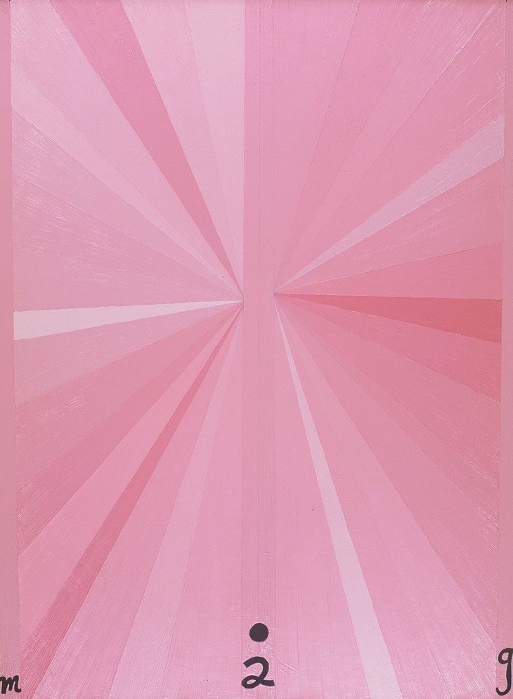Mark Grotjahn, Untitled (pink butterfly), 2002. Art Experience:NYC http://www.artexperiencenyc.com/social_login