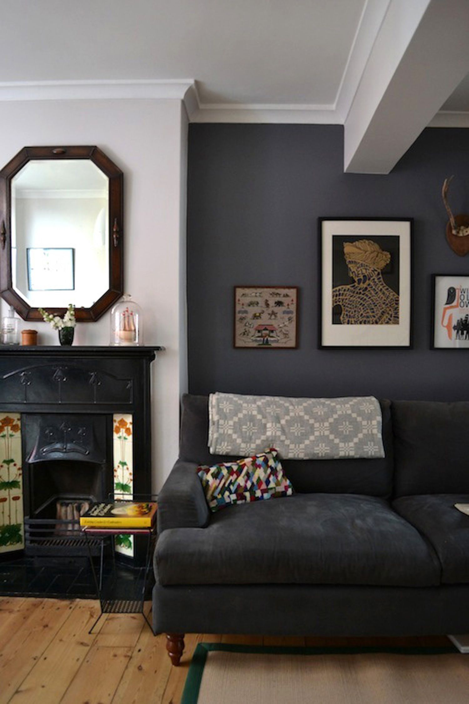 Living room nooks on either side of