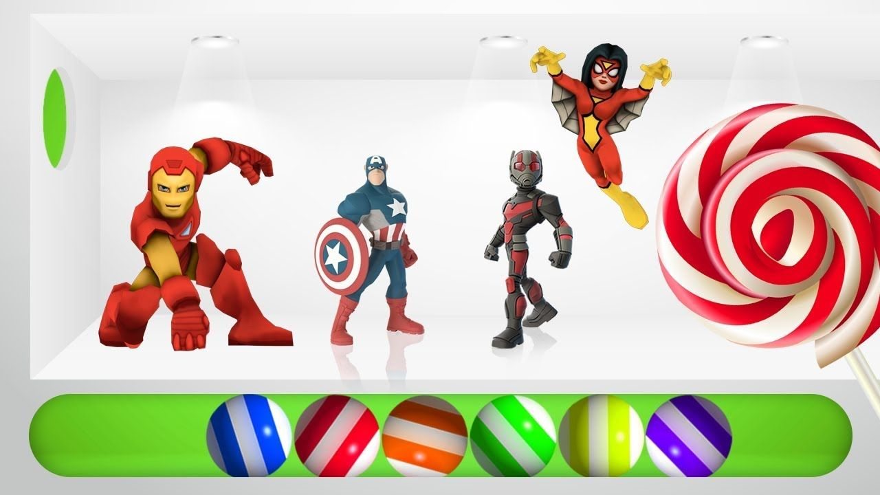 Learning Color Ball Colors and Color Balloon with SuperHeroes Video ...