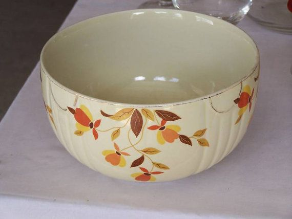Hall S Superior Quality Kitchenware Autumn Leaf Bing Images Vintage Pottery Jewell Mixing Bowls