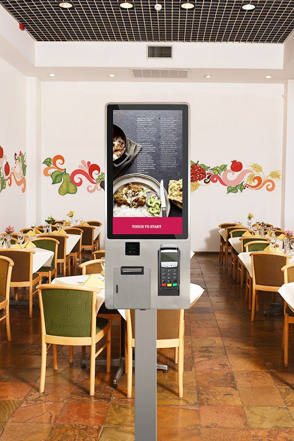 Fast Food Ordering Self Service Payment 24 Inch Touch