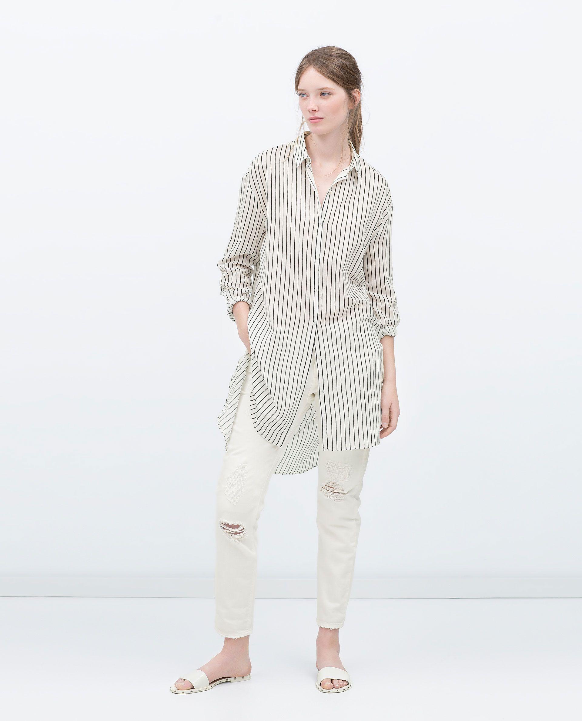design de qualité 19aa1 d900f CHEMISE LONGUE ASYMÉTRIQUE - Chemises - FEMME - PROMOTIONS ...