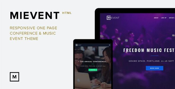 mievent responsive parallax event music theme template