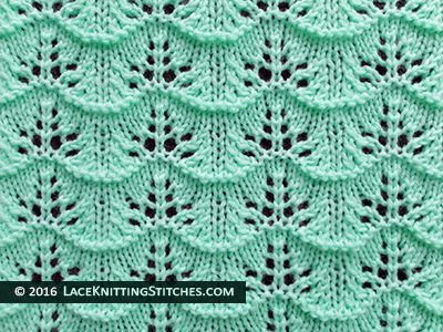 A Great Knitted Lace Pattern For Beginner Free Chart No23 Modele