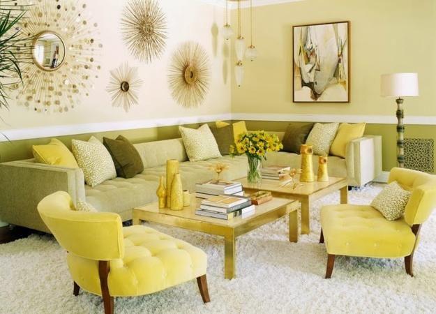 Farbgestaltung für optische Raumvergrößerung Pinterest Interior - Wohnzimmer Design Grun