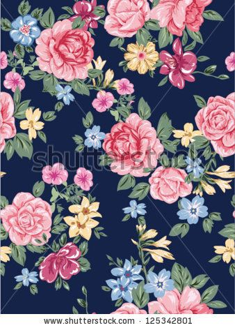 seamless romantic flowers,jersey sweater floral pattern,high fashion roses,chiffon or satin fabric also by Ashley Mcginty, via ShutterStock