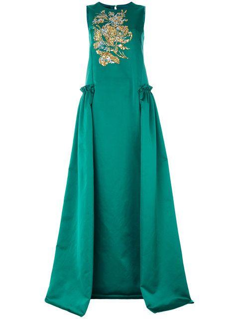 купить зеленое бальное платье
