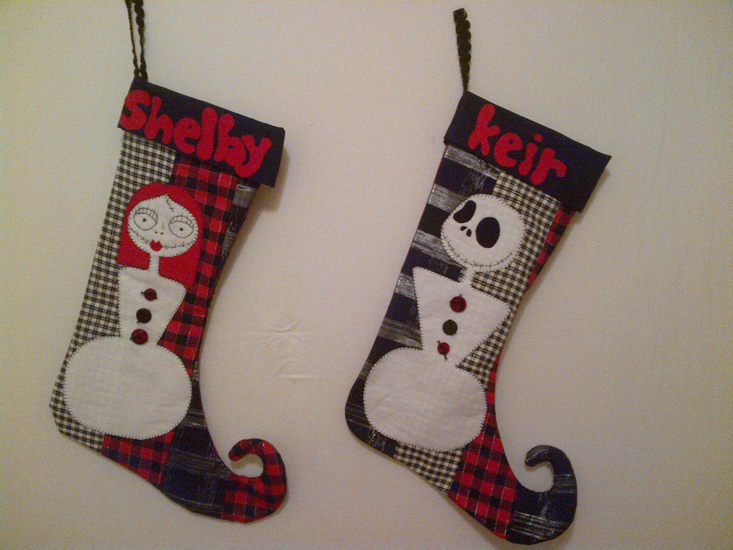Nightmare before christmas stockings   Mudwmn - Stuff I Make   Pinterest
