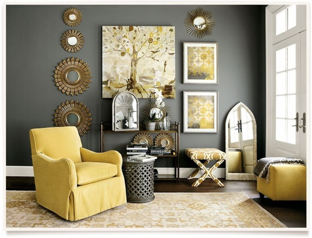 Yellow Living Room Furniture Ideas Image Grey Yellow ...