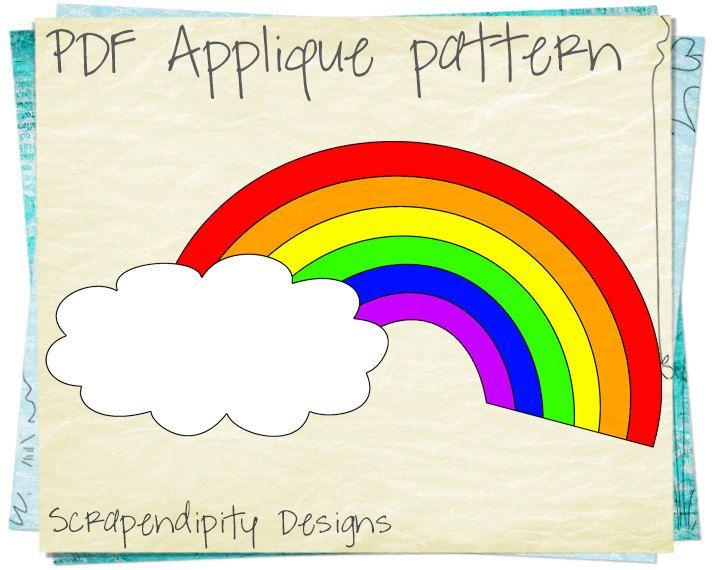 Rainbow Baby Applique Pattern Rainbow by ScrapendipityDesigns - rainbow template