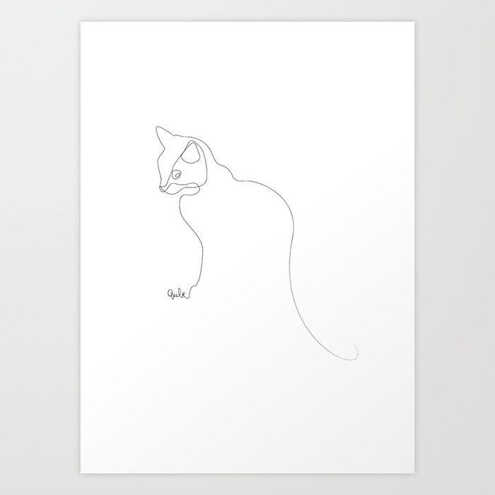 Картинки линиями коты