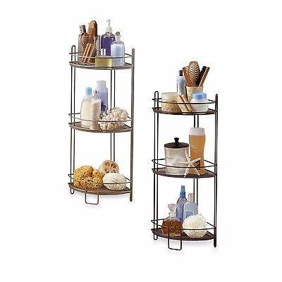 corner shelf storage 3 tier bathroom mesh rack organizer floor caddy rh pinterest com