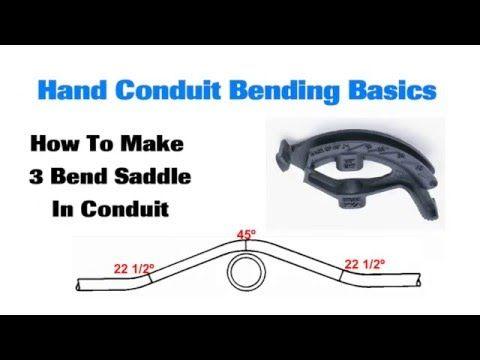 EMT Conduit Bending: 3 Bend Saddle, Box Offsets, 90° Stub
