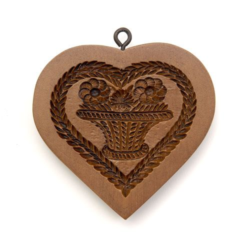 Basket of Flowers Heart Cookie Mold  $26.00 at House on the Hill website.