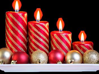 Adornos De Navidad Con Fondo Transparente Pillar Candles Candles Taper Candle