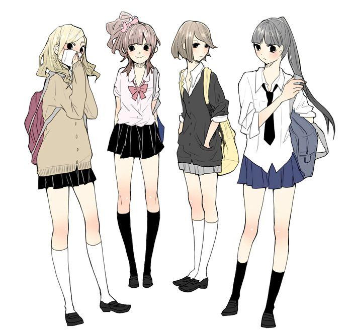 Pinterest Anime Outfits Manga School Anime Uniform