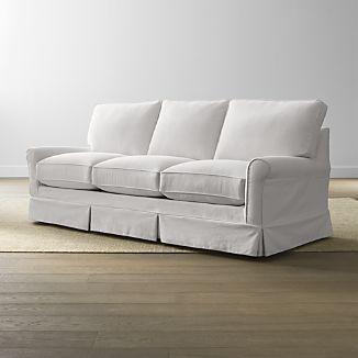 harborside slipcovered 3 seat queen sleeper home ideas sofa rh pinterest com